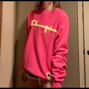 Pink Champion Crewneck